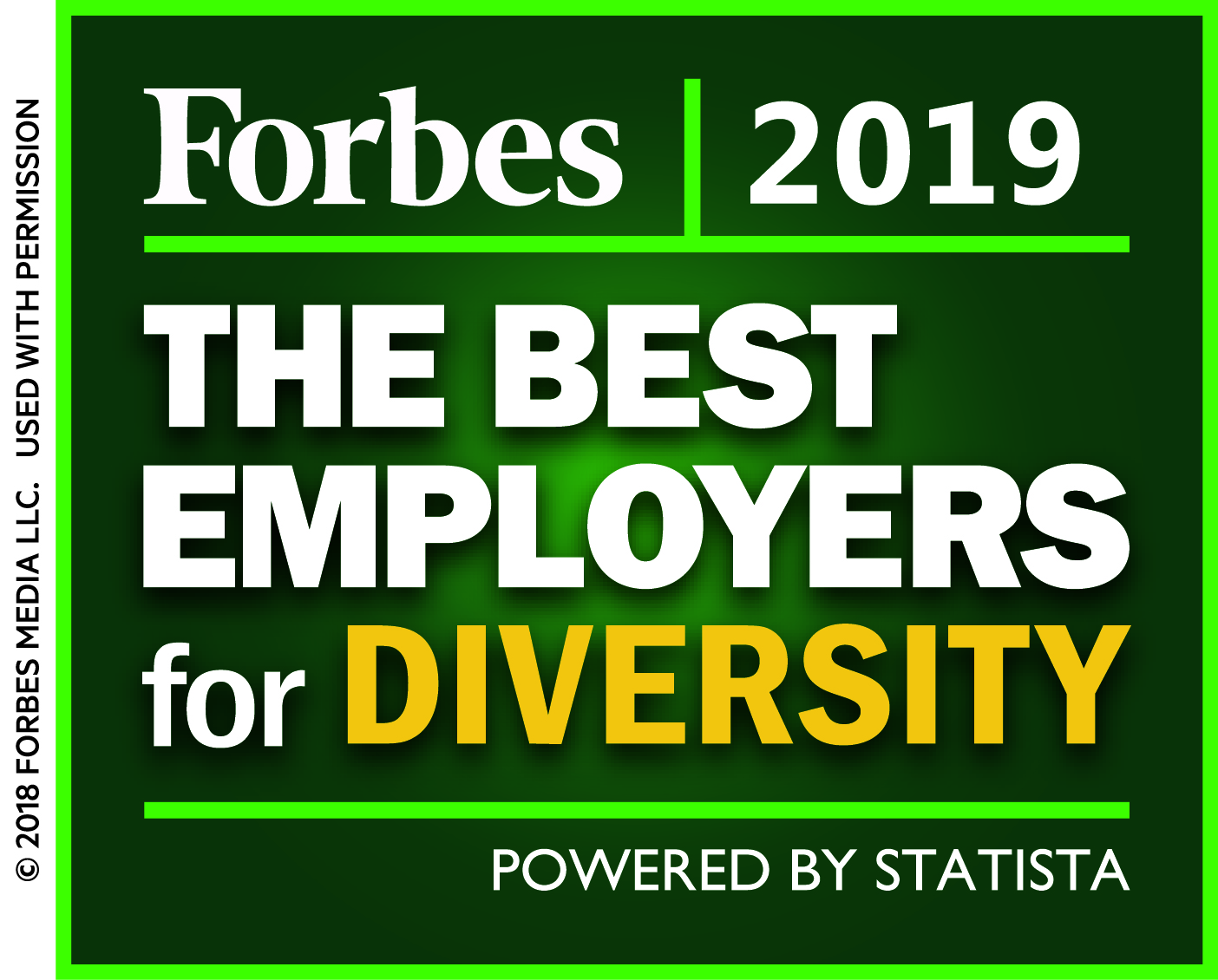 MD Anderson award - Forbes 2018 Best Employers for Diversity